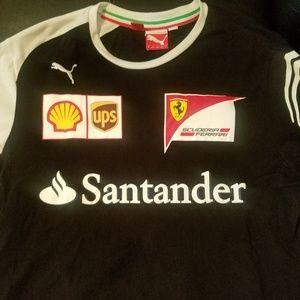 Men Ferrari t- shirt pre owned size Medium
